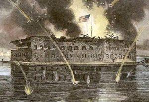 Форт Самтер в бухте Чарлстон