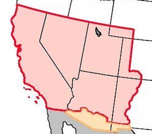 Мексиканская уступка. Красный цвет: Покупка Гадсдена