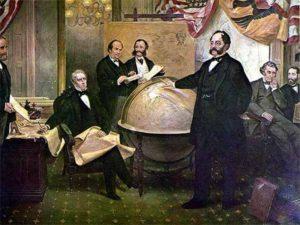 Российский дипломат Эдуард Стекль по поручению Александра II вел переговоры с правительством США о продаже Аляски