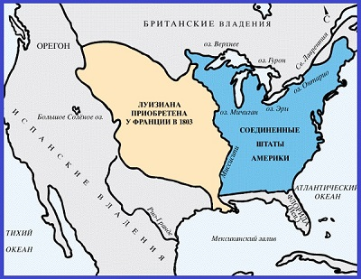Территория США в 1803 году