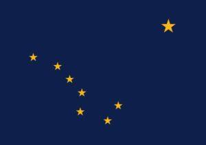 Аляска.Флаг штата