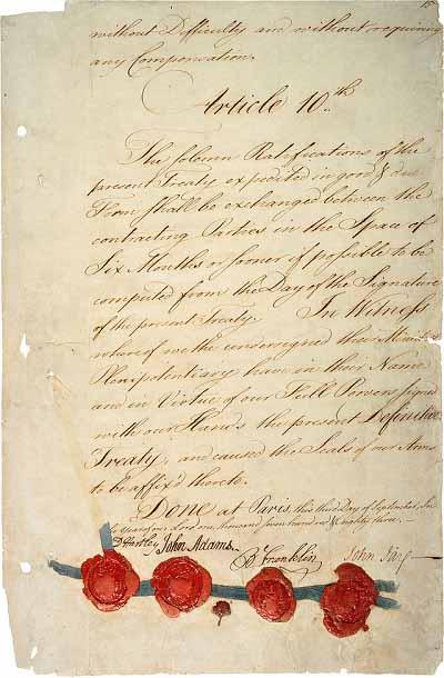 Версальский мирный договор 1783 года